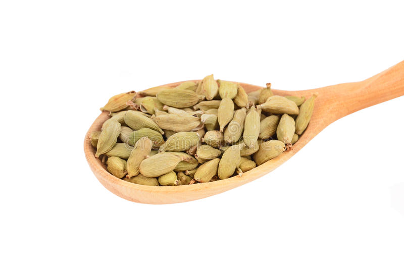 Download Cardamom Pods In Wooden Spoon Stock Photo - Image: 23177548