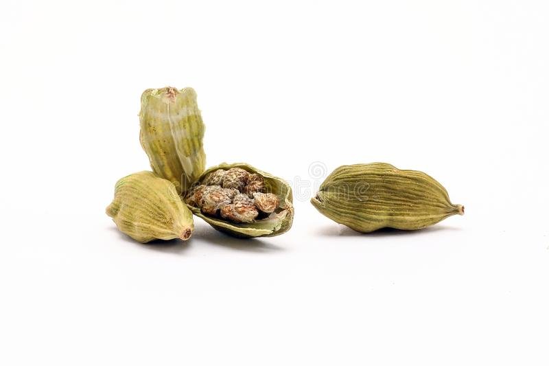 Cardamom spice whole split royalty free stock photography