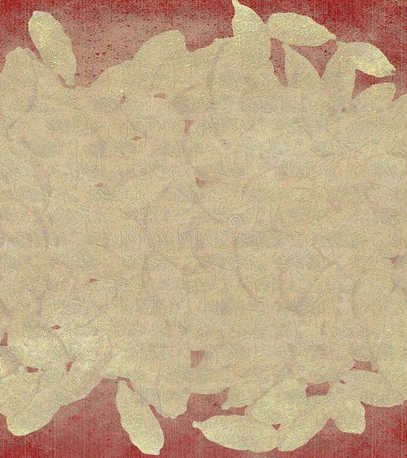 Cardamonsahne und roter Hintergrund lizenzfreie abbildung