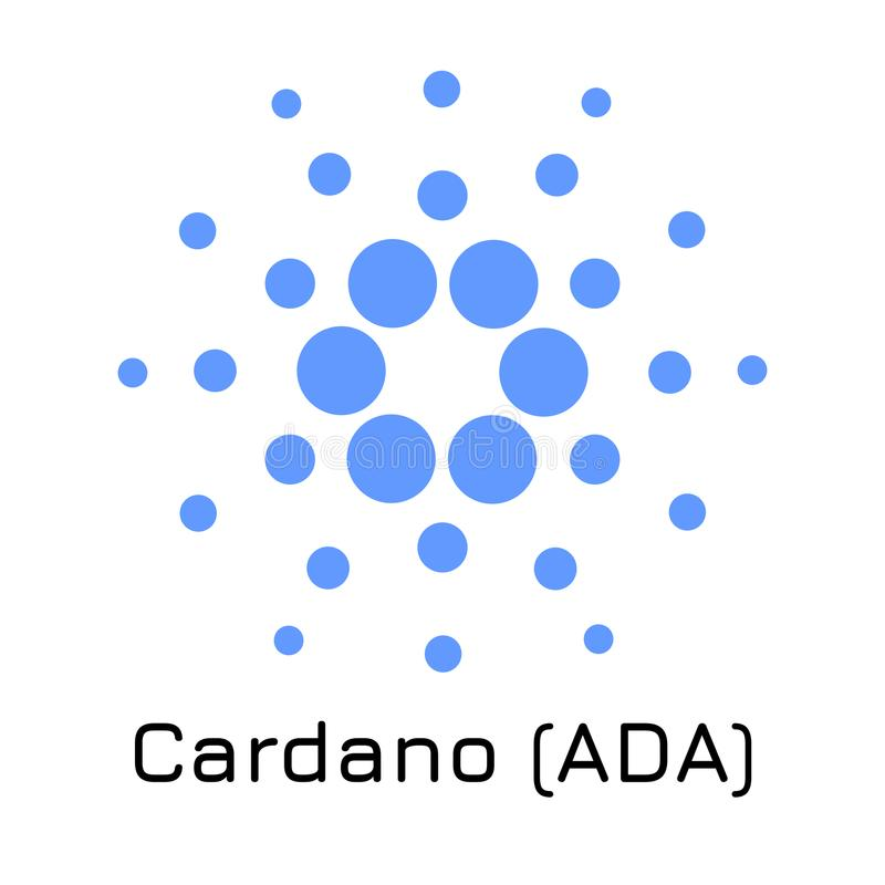 Cardano ADA. Vector illustration crypto coin ic royalty free illustration