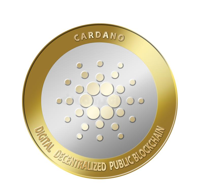 Cardano crypto currency vector illustration