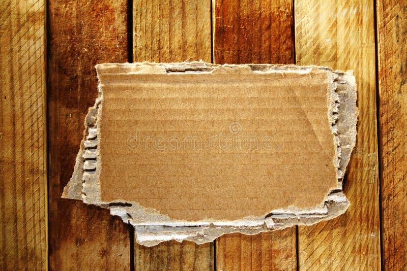 Cardboard on boards