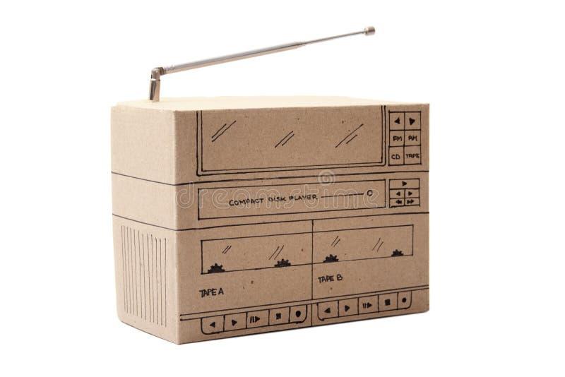 Cardboard Boom box. Photo of Cardboard Boom box stock photos