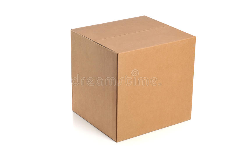 Cardboard box. Isolated on a white background stock image