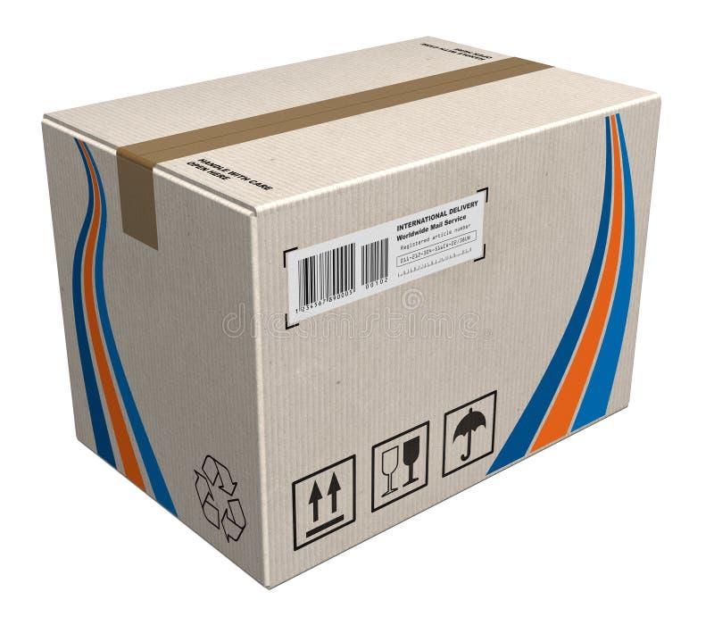 Cardboard box. Big cardboard box isolated over white background royalty free illustration