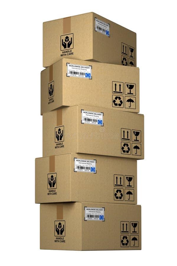 Cardboard box vector illustration