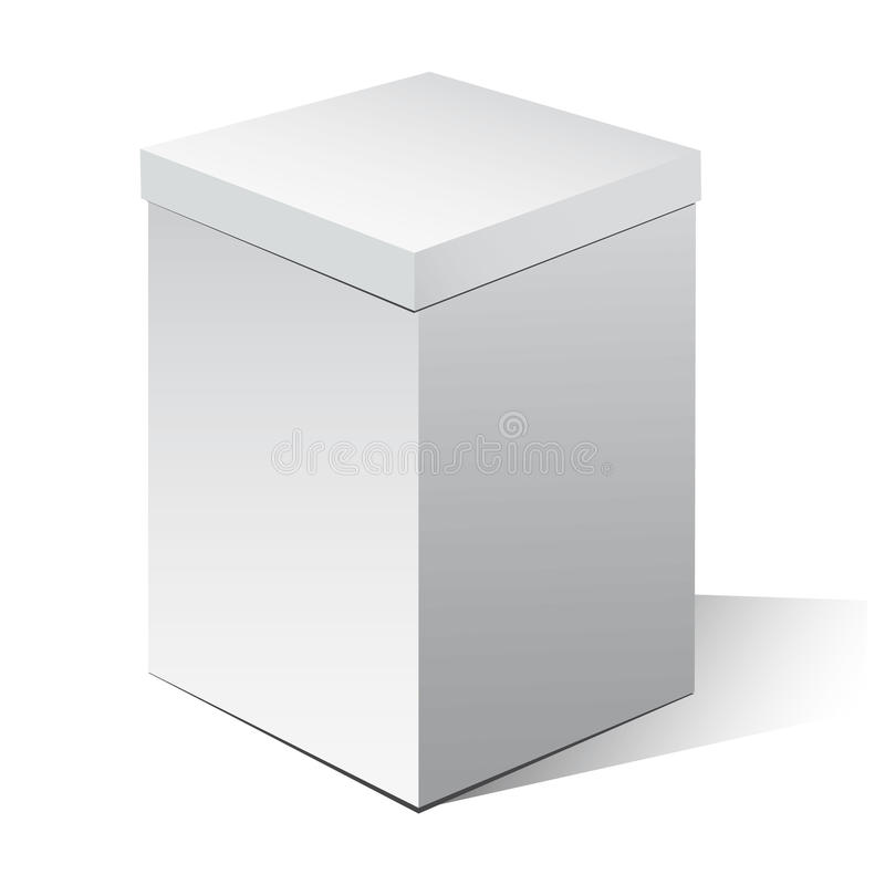 Cardboard box royalty free illustration