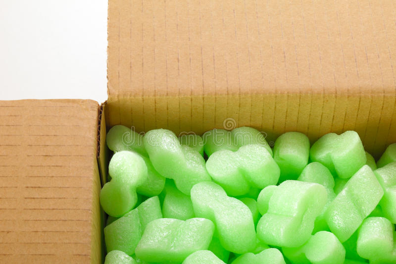 Download Cardboard box stock image. Image of plastic, green, close - 26275627