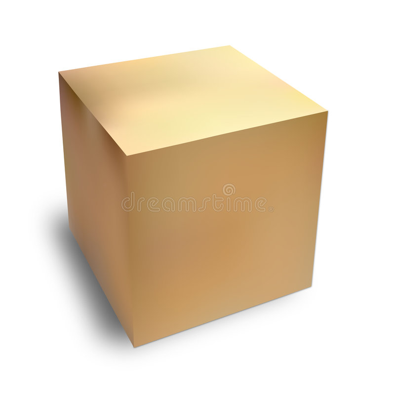 Cardboard box royalty free illustration