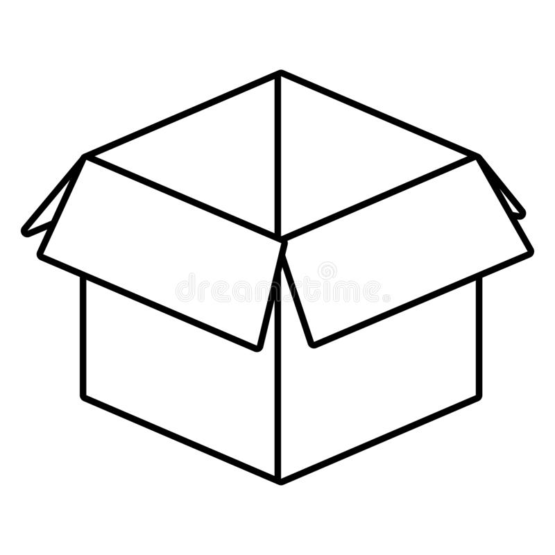 Cardboard box cartoon royalty free illustration