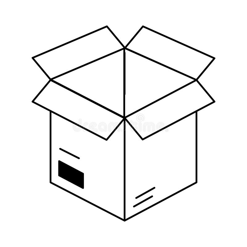 Cardboard box cartoon vector illustration