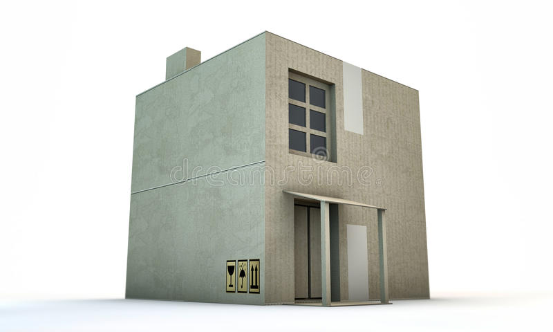 Download Cardboard Box House Royalty Free Stock Images - Image: 28879689