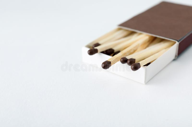 Cardboard box with matches royalty free stock images