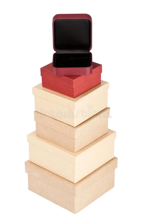 Download Cardboard box tower stock photo. Image of equipment, jewelry - 26622408