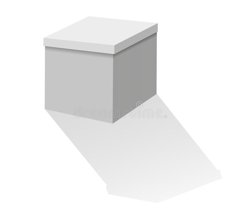 Cardboard box on a white background stock photography