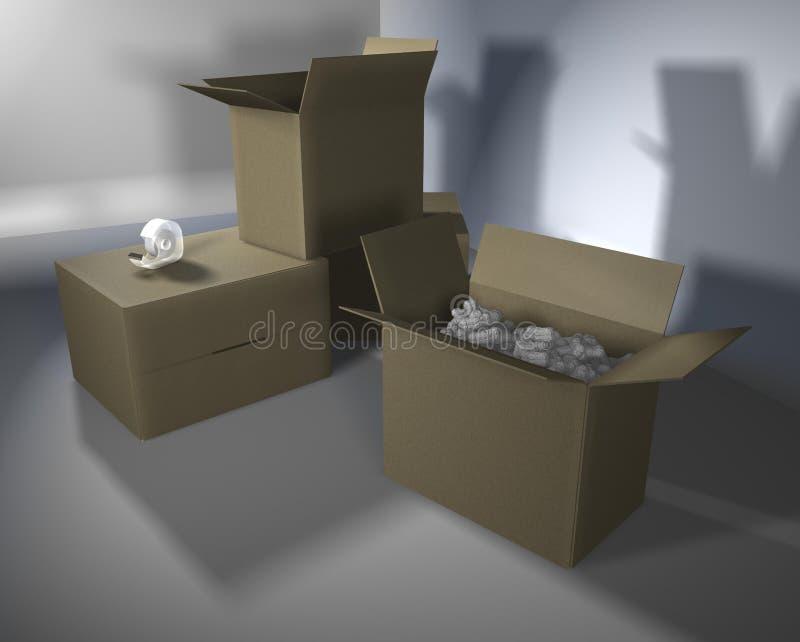 Download Cardboard_boxes_01 stock illustration. Illustration of drawing - 2281233