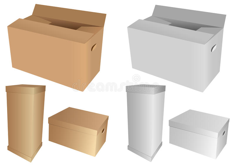 Download Cardboard boxes stock image. Image of clipart, group - 13079535