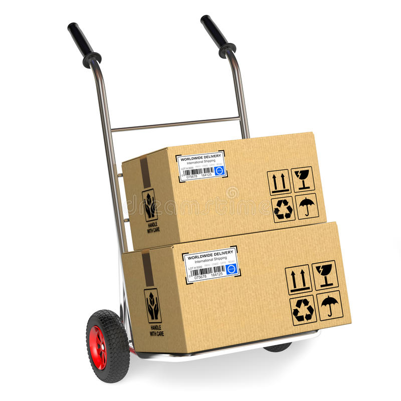 Cardboard boxes stock illustration
