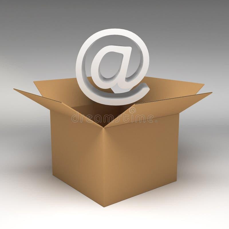 Cardboard boxes 3d illustration. 3d rendering Cardboard boxes 3d illustration stock illustration