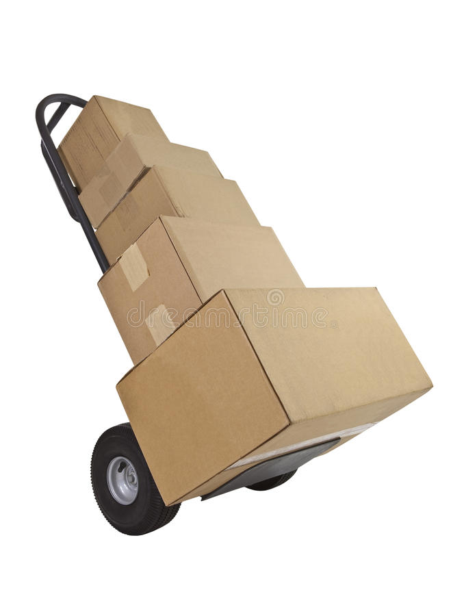 Download Cardboard Boxes and Dolly stock image. Image of cardboard - 38876283