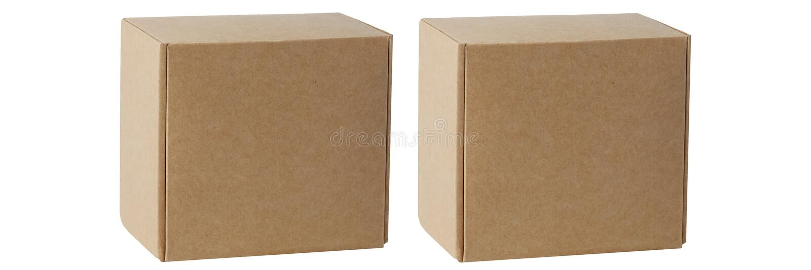 Cardboard boxes for goods on a white background. Different size. Isolated on white background.  stock photos