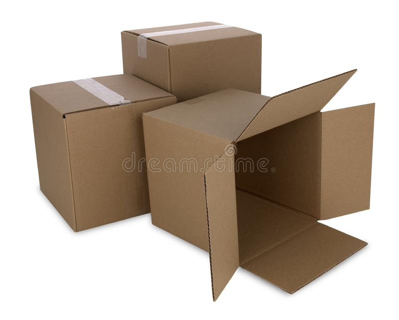 Cardboard Boxes with Path royalty free stock photography
