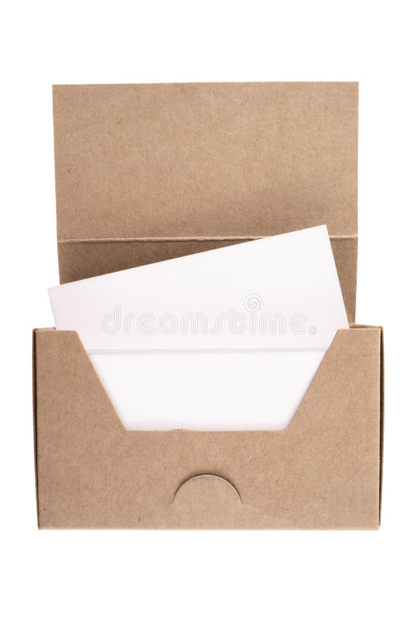 Cardboard Business Card Box Stock Image - Image of business ...