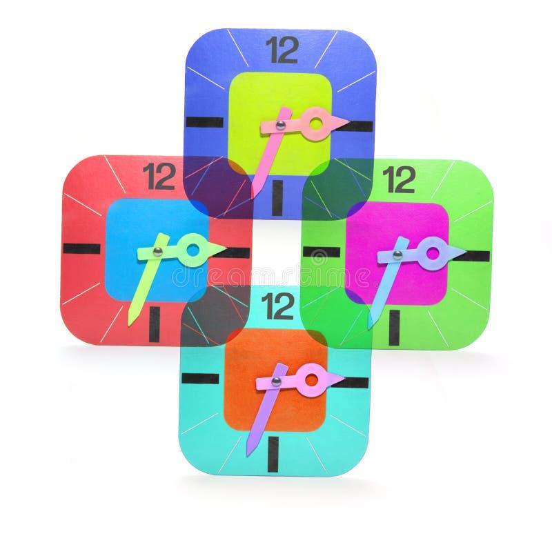 Cardboard Clocks stock photos