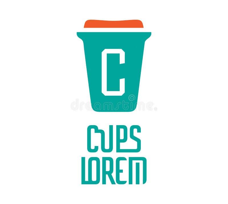 Download Cardboard Coffe Cup Logo Stock Illustration - Image: 83705990