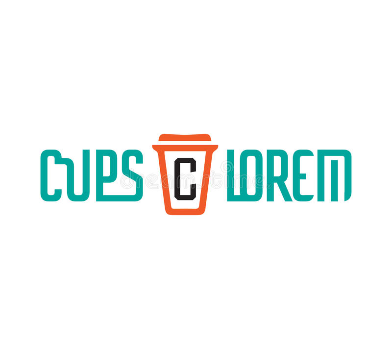 Download Cardboard Coffe Cup Logo stock illustration. Illustration of liquid - 83705964
