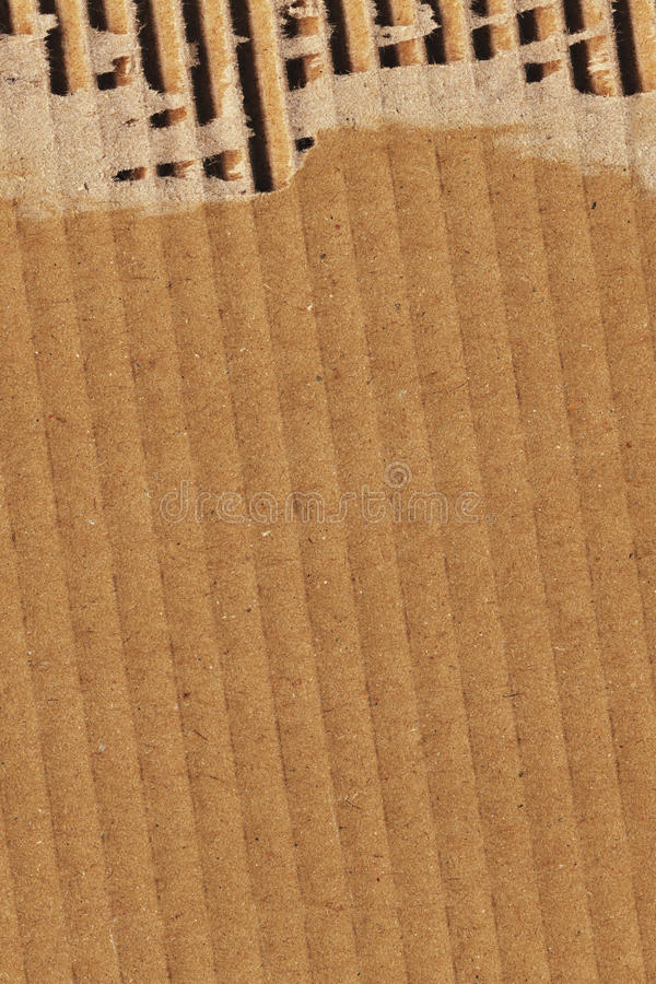 Cardboard Corrugated Grunge Texture Sample royalty free stock photography
