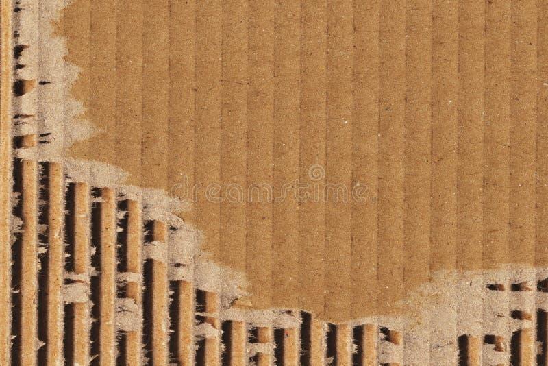 Cardboard Corrugated Grunge Texture Sample stock photos