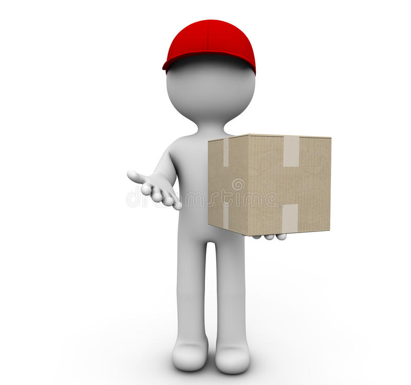 Cardboard Deliver Royalty Free Stock Photography