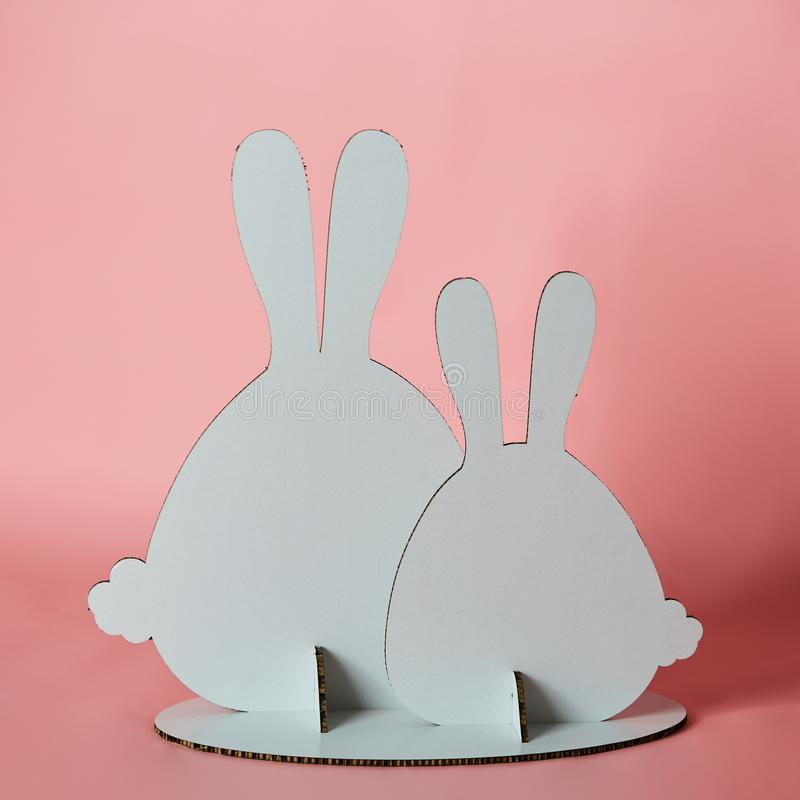 The cardboard Easter background. Cardboard Easter Decoration. stock photos