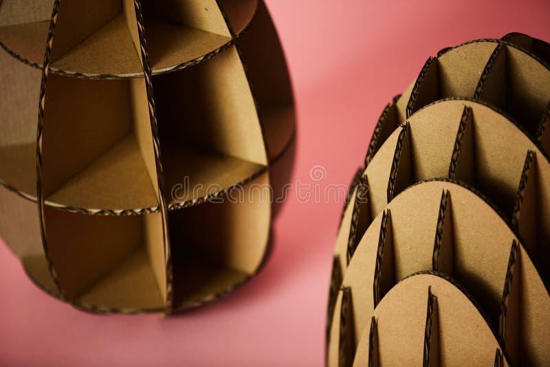 The cardboard Easter background. Cardboard Easter Decoration. stock images