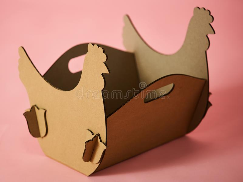The cardboard Easter background. Cardboard Easter Decoration. royalty free stock image