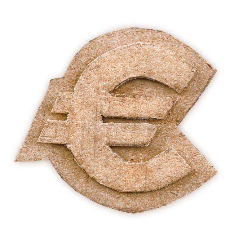 Cardboard Euro Sign Royalty Free Stock Image