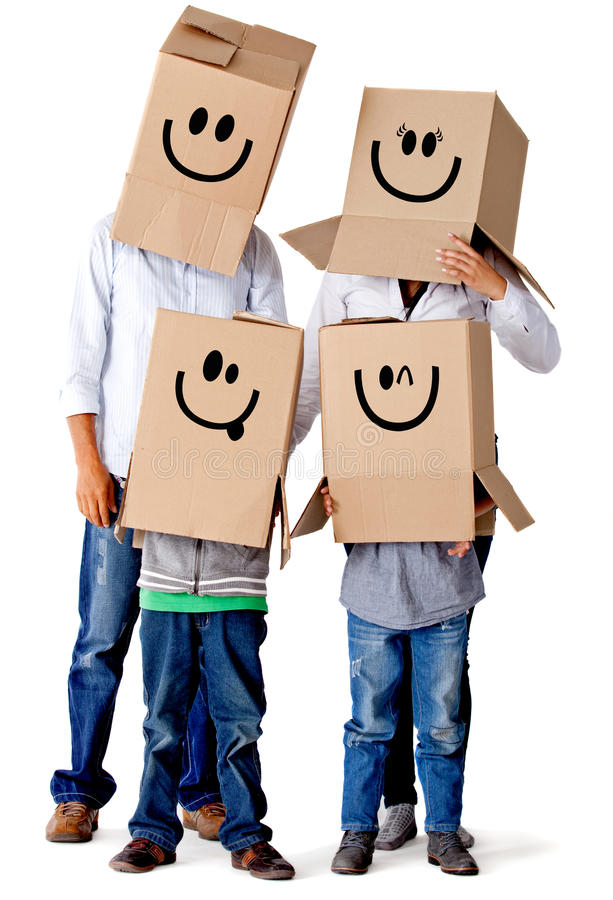 Download Cardboard Family Characters Stock Illustration - Image: 23267047