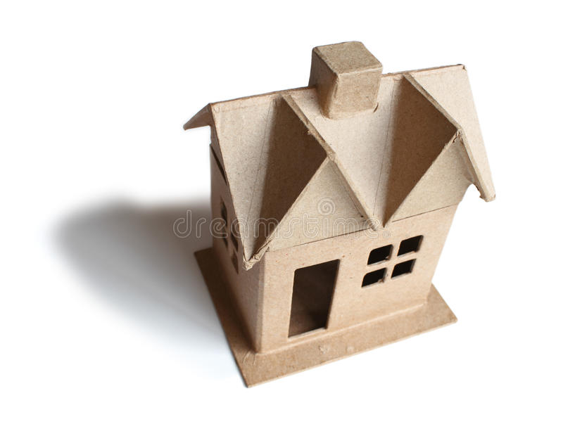 Download Cardboard House stock photo. Image of cardboard, chimney - 22597494