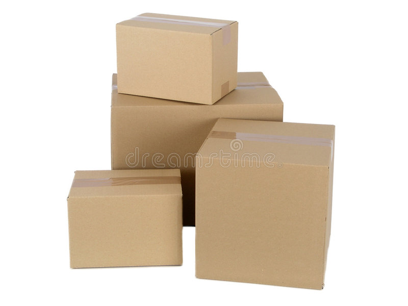 Cardboard Packages royalty free stock photo