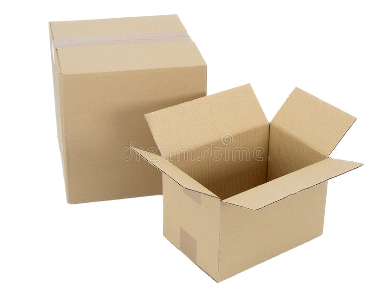 Cardboard Packages stock image