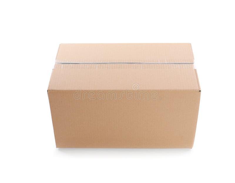 Cardboard Parcel Box On White Background Stock Image ...