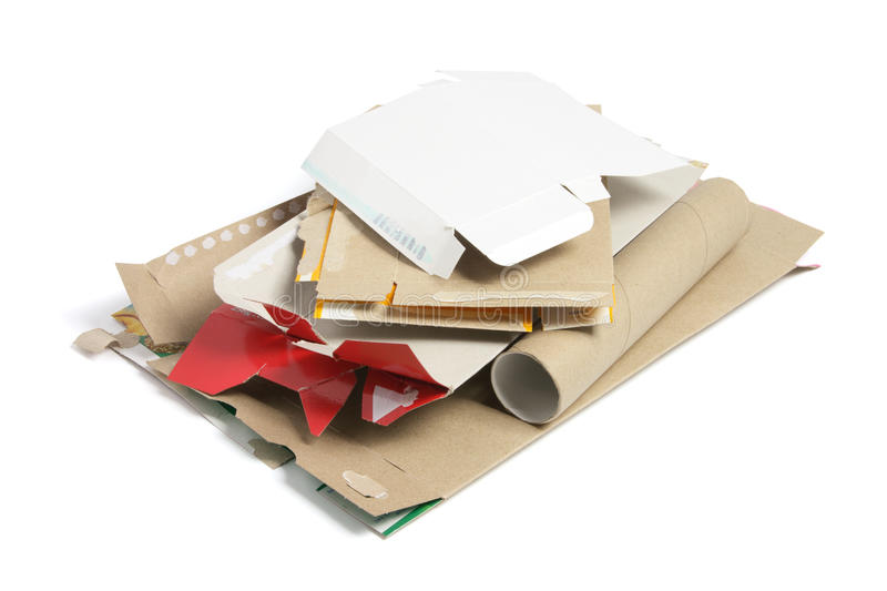 Cardboard Pieces stock images