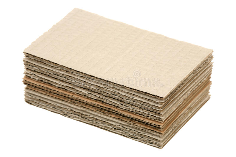 Cardboard pile royalty free stock images