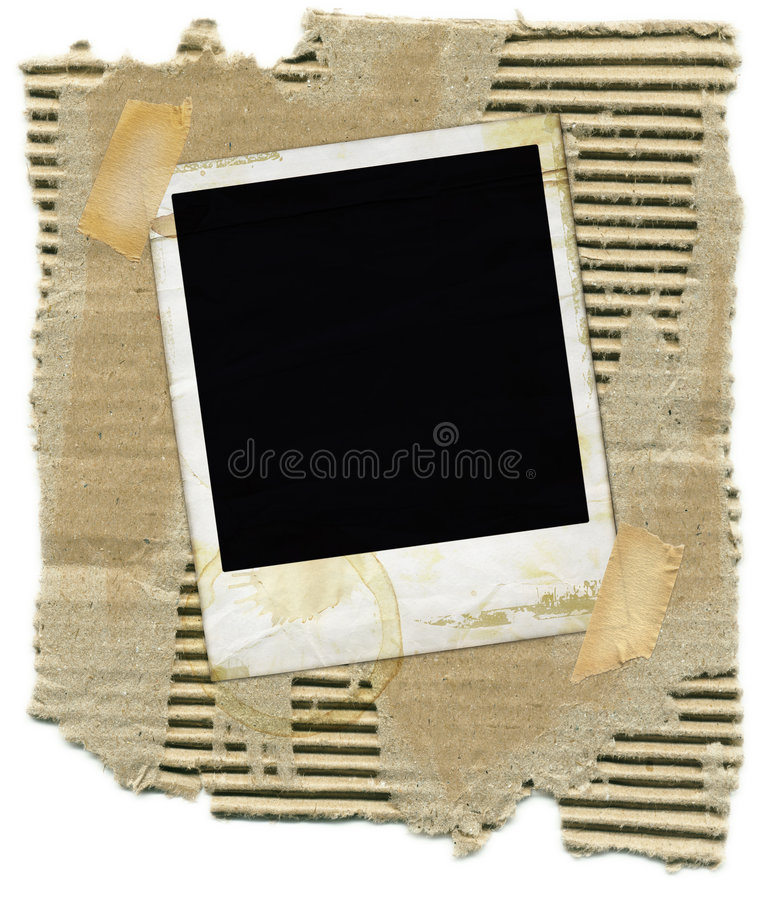 cardboard polaroid στοκ εικόνες με δικαίωμα ελεύθερης χρήσης