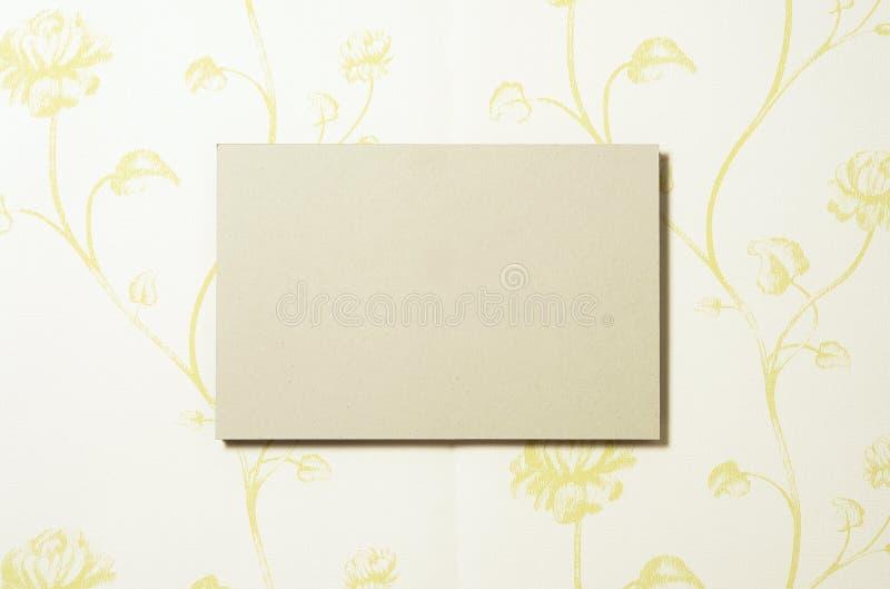 Cardboard rectangle on wallpaper 02