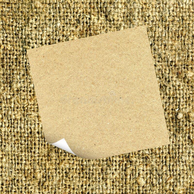 Download Cardboard on sacking stock image. Image of close, retro - 24527733