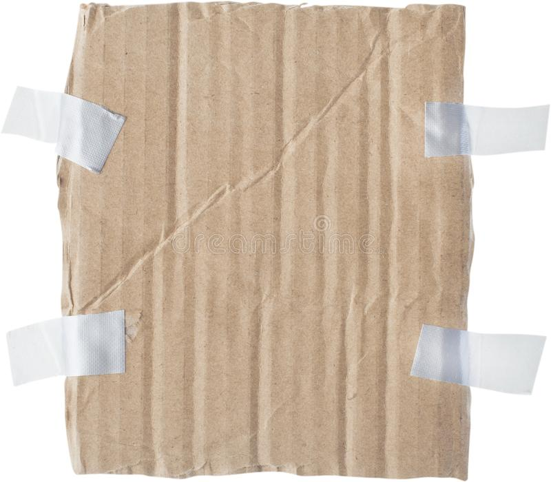 Cardboard sign. Message paper hanging blank dirty royalty free stock photo