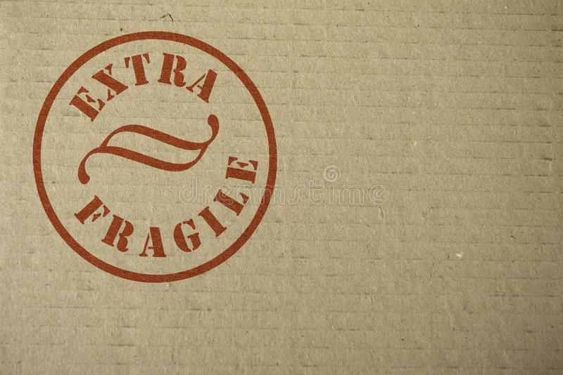 Download Cardboard with a Stamp stock image. Image of danger, fragile - 8397409