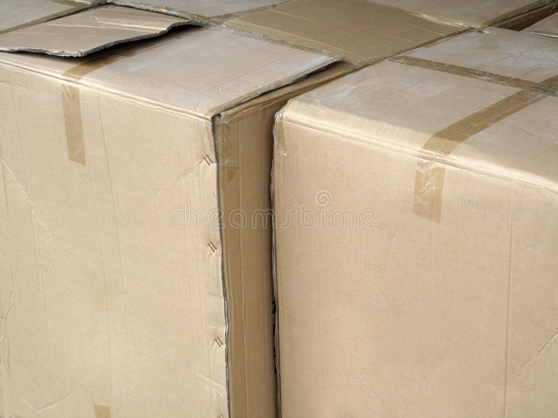 Cardboard Storage Boxes. royalty free stock photo